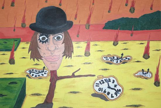 Alex from A Clockwork Orange set in Salvador Dali